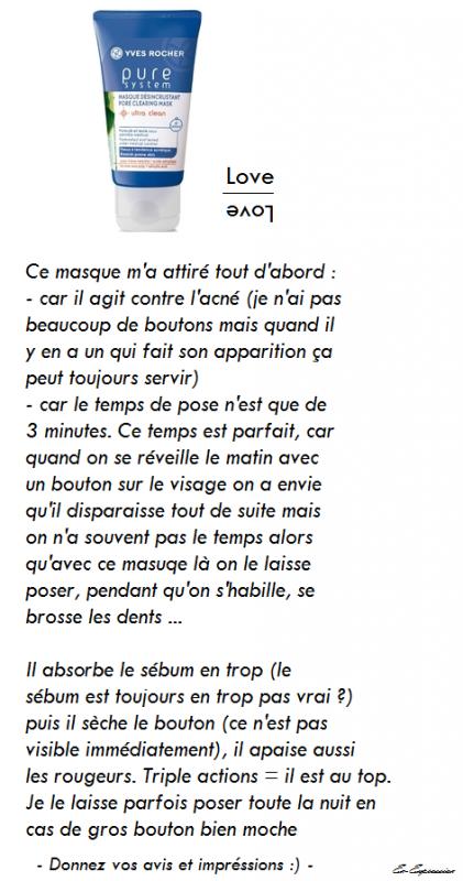 #Avis masque pure système Yves rocher