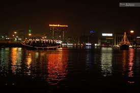 Glimmering view from dhow cruise Dubai!