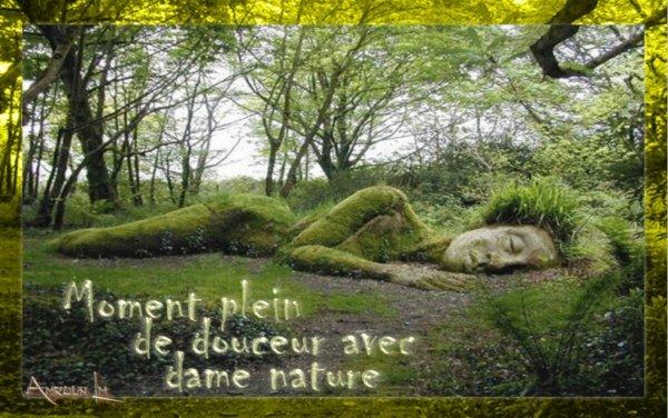 Moment plein de douceur avec dame nature
