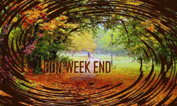 UN TRES BON WEEK-END AUTOMNAL  A VOUS TOUTES MES AMIES!  BISOUS..... AMITIE ............VOTRE AMIE BIQUETTE-72