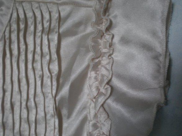 Chemise Satin Couleur beige/Nacre T.S/M
