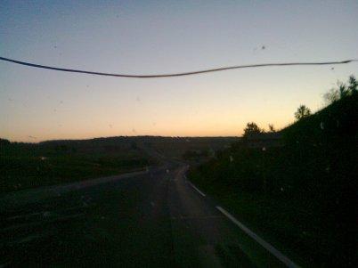 levée du soleil avec téléphone portable