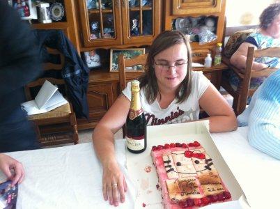 Dimanche on a fêté anniversaire de ma belle soeur Amélie