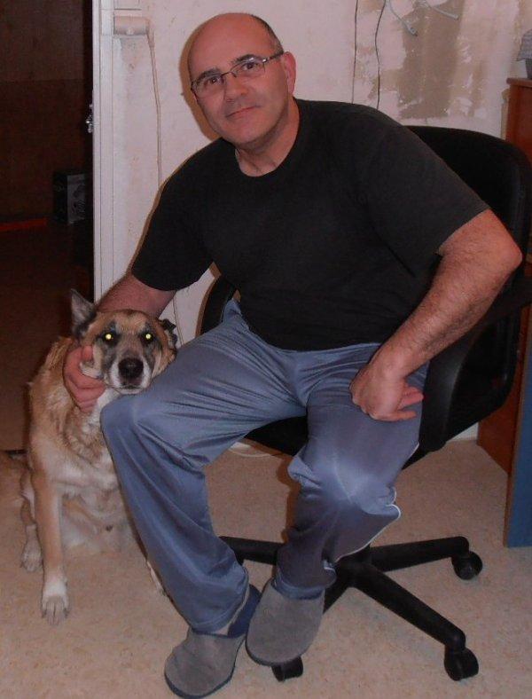 Rocky avec son papa