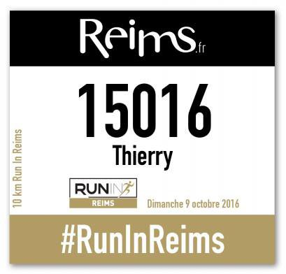 inscrit au Run de Reims