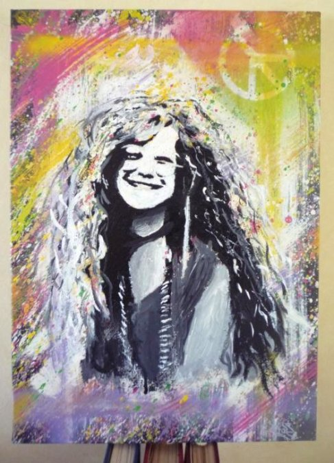 Toile Janis Joplin by TisS