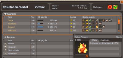 Lvl 200 Belegorn, Mirthandir et Dofus Pourpre!