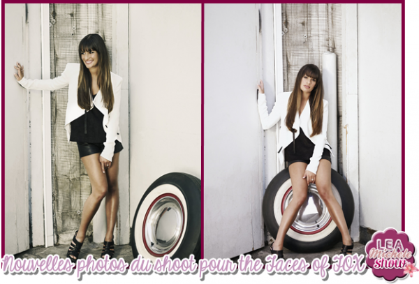 Lea Michele shoot pour The Faces of FOX + Stills du 4*02 + photo promo du jours :)