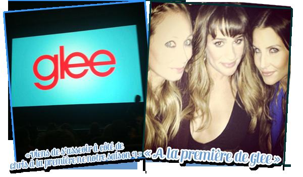 12/09: Lea Michele était à l'avant première de la saison 4 de Glee