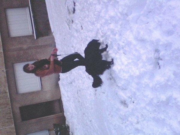 Lucie etmon chien