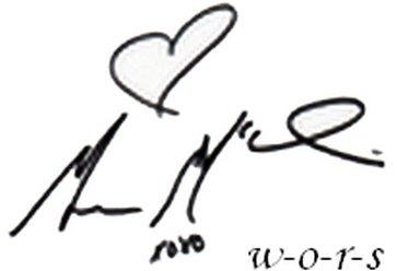 Son autographe