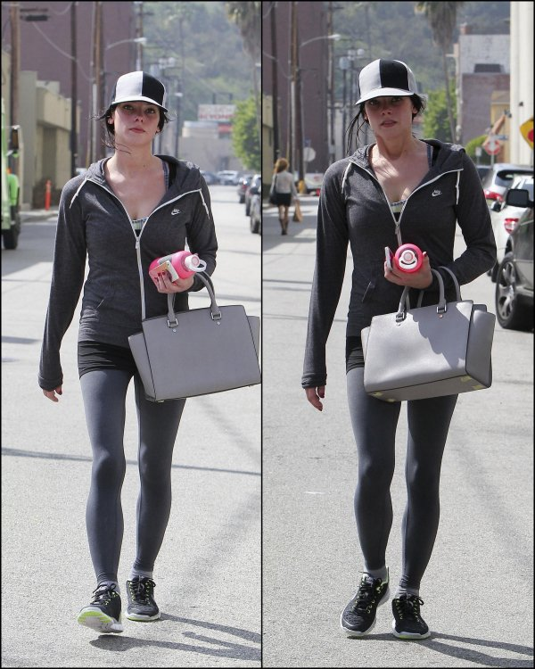 09-03-13 -Ashley à Los Angeles sortant d'une bonne séance de sport !