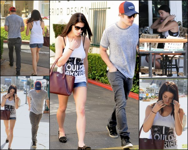 06-04-13 -Ashley à Hollywood en compagnie de Josh Henderson. J'adore ça tenue, j'adore son sac!