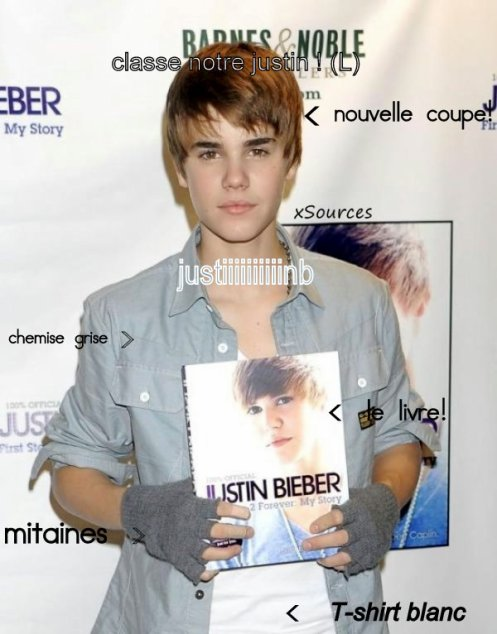 Justin signe First Step 2 Forever