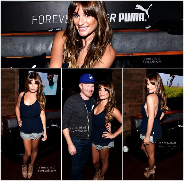 12/08/14 : Lea, accompagnée de Matthew, s'est rendue au concert de Justin Timberlake et à un événement privé de la marque Puma qui se déroulait dans les loges du concert.Lea était assez souriante et surtout sublime, j'aime beaucoup la tenue![/align=center]