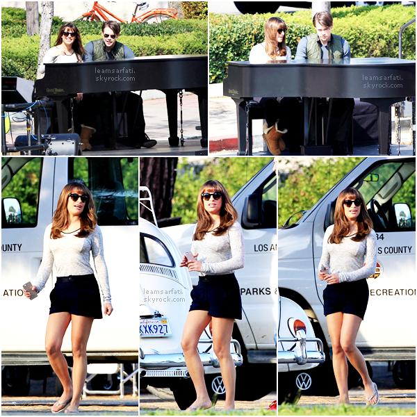 Candids : Lea à Beverly Hills au Hot Springs Spa le 18 octobre+ Notre belle partant du Earth Bar à LA le 21 octobre, ainsi que quelques photos sur le set de Glee avec Chord Overstreet datant du 20 octobre.