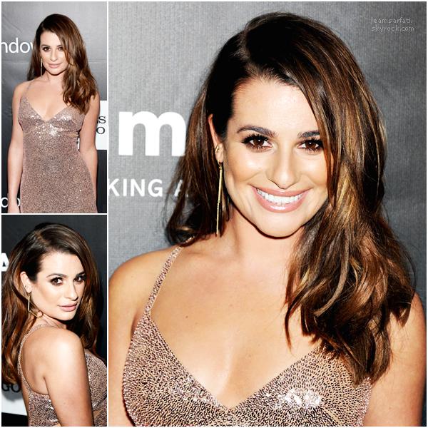 Events, 29 octobre 2014 : Lea était présente aux 2014 AMFAR LA Inspiration Gala accompagnée de son petit ami Matthew. Elle est sublime dans cette robe Versace, j'adore! Un énorme top pour moi, et vous?