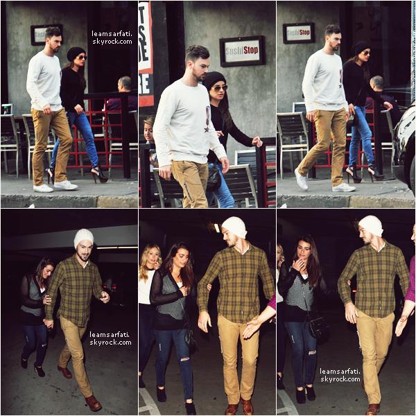 ● ●04/12/2014 Candids :Lea a été aperçue sur le set de Glee et ainsi qu'en sortant d'un salon de manucure le même jour. (+ Rattrapage des nouveautés)