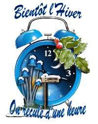 N'oubliez pas le changement d'heure de ce weekend ... ;-)