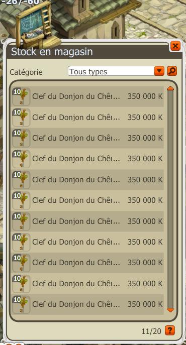 Vente Clefs  CM !