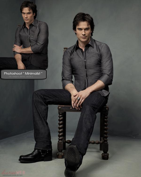 """. Deux photos promotionnelles de Damon du photoshoot """" Minimalist """" sont apparues. J'adore, pas vous? ."""