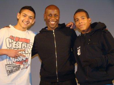 p'tite photo avec Ladji Diallo et Ronildo à la fin du concert mdr