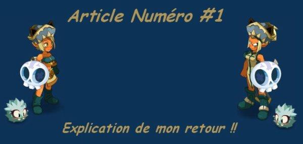 Article # 1 , Le retour sur dofus !