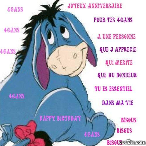Joyeux Anniversaire Pour Tes 40ans Je T Adore Jojotte
