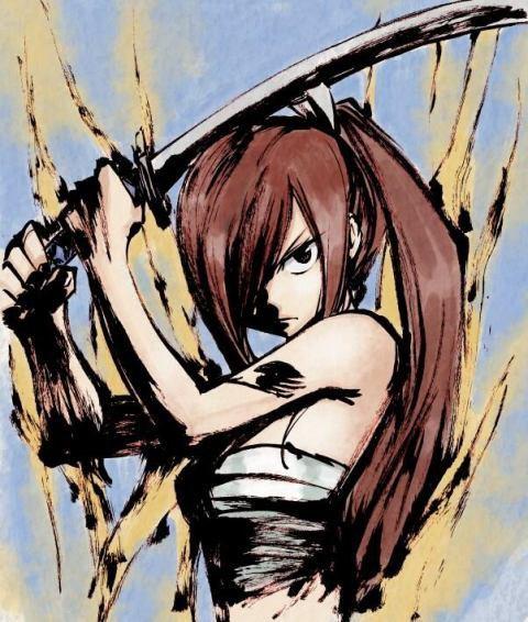 """"""" Mes compagnons rendent mon c½ur solide. Si je me bats pour ceux que je aime, je ne me soucie pas de mon corps. """" - Erza Scarlet"""