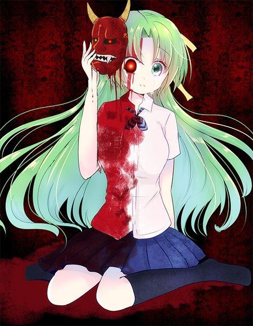 """"""" Je l'ai fait, je l'ai enfin fait ! J'ai tué tout le monde, de mes propres mains ! """" - Shion Sonozaki"""