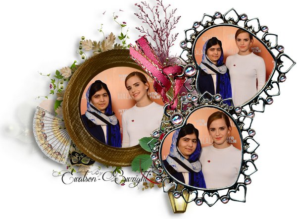 Emma Watson au festival Londonien Into Film avec Malala Yousafzai