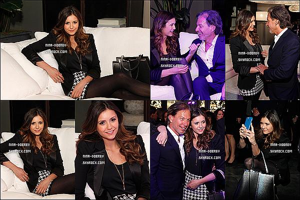 . 20/11/2014 :  Nina Dobrev était présente à l'ouverture du restaurant Hardware situé à Atlanta.   .