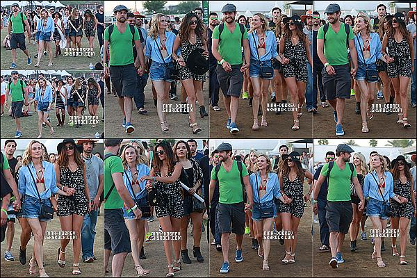 - 18/04/15 : Nina Dobrev été présente au festival Coachella pour la deuxième semaine à Indio.  -