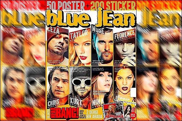. Découvrez Nina Dobrev sur la couverture du magazine « Blue Jean ».     .