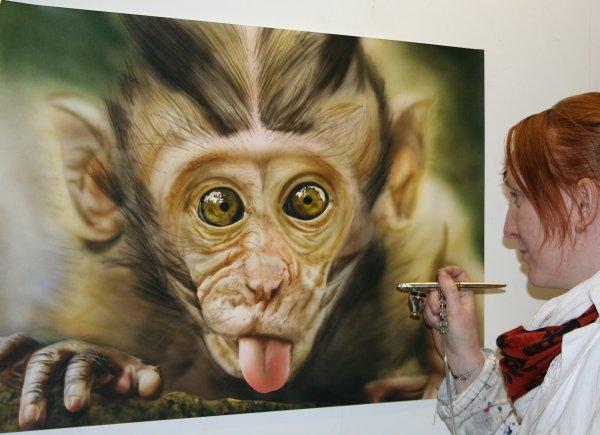 animalier en aérographie