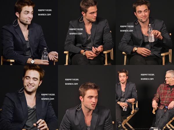 Le 1er Juin: Rob été à l'Apple Store de Londres pour Cosmopolis. Côté tenue Rob à toujours un costume noir, donc il n'y a pas grand chose à dire à part qu'il reste magnifique.