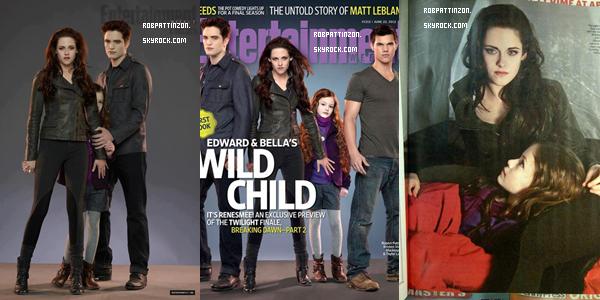 Le magazine Entertainement Weeky dévoile de nouvelle photo de BD 2 J'aime beaucoup les photos avec Edward, Bella et Rénésmée. et vous ?