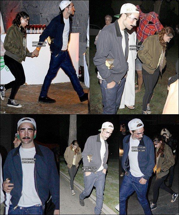 31/10/12: Robert et kristen était à la soirée d'halloween hier soir à Los Angeles.