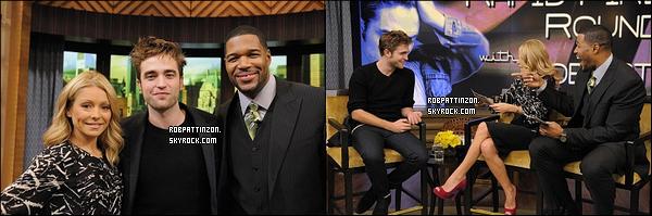 08/11/12: Robert était ce matin au Today Show. Il est absolument magnifique ! + 2 still HQ de Robert lors du live de Kelly et Michael toujours ce matin.