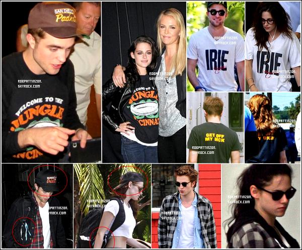 On dirait que Kristen Stewart aime bien piquer les vêtements de son homme.