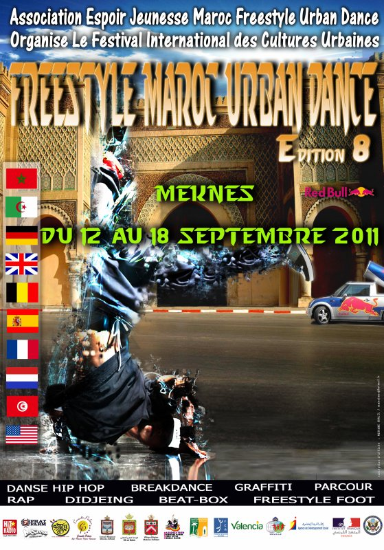 "FESTIVAL INTERNATIONAL ""FREESTYLEMAROC URBAN DANCE N°8"" MEKNES 2011"