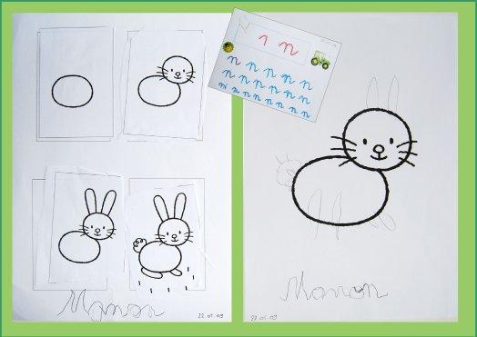 Dessiner un lapin en maternelle ln98 jornalagora - Lapin a dessiner ...