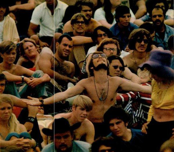 Photo : Woodstock Festival, Juillet 1969, 450 000 spectateurs, Sa fai rêver.