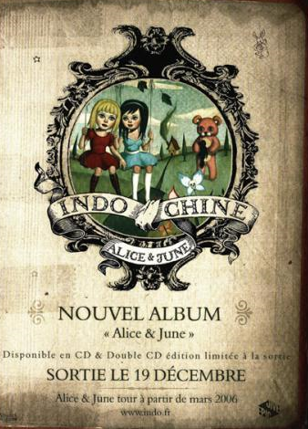 "L'album ""Alice et June"" du groupe Indochine"
