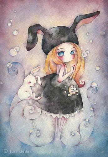 Image du jour : Petite fille en lapin et son lapinou