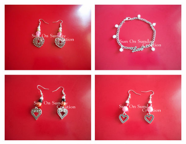 Boucle d'oreille Perles collection Saint-Valentin