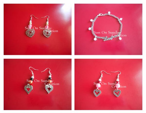 Boucle d'oreille Perles collection Saint-Valentin