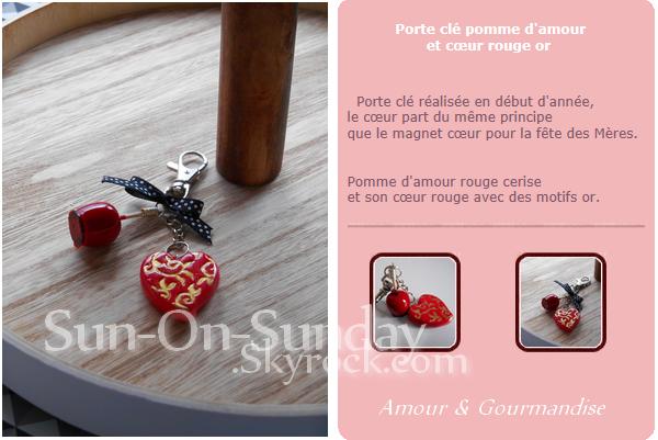 Porte-clés Pomme d'amour & Coeur