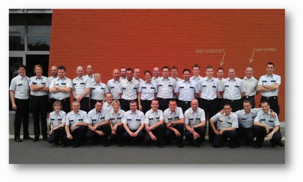 Nos collègues du Det C au cours d'inspecteur de Police