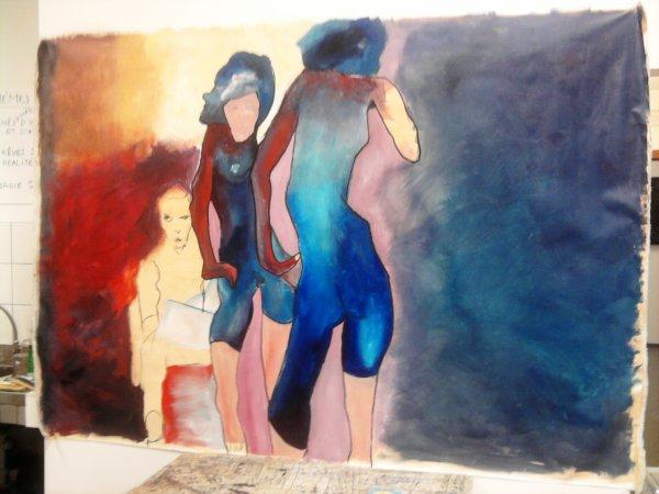 Nouvelle toile en cours (hommage à Egon Schiele)